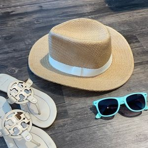 NWT j crew Panama fedora hat